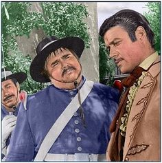 Sergeant Garcia and Don Diego. Colorization by Mary Anderson.