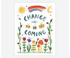 "Change is Coming 8.5""x11"" Print - Silver in the City Change Is Coming, Tiny Studio, Silver In The City, Deep Truths, Finding Happiness, Morgan Harper Nichols, Green Landscape, Lush Green, Poster Prints"