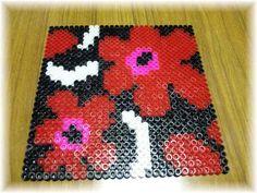 Marimekko coaster perler beads by Mariko