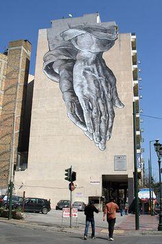 Athens Street Art, Greece.  Artists: Kretsis and M. Anastasakos 2011.