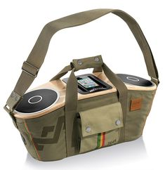 Bag of Rhythm Portable Audio System - House of Marley is releasing a reggae-inspired boombox called the Bag of Rhythm Portable Audio System for those who want music blasting wherever th. Speaker System, Audio System, Le Manoosh, Whatsapp Tricks, Fitness Armband, Ipod Dock, Stereo Speakers, Iphone Speakers, Portable Speakers