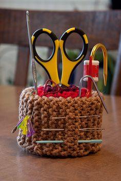 Knitted Pincushion / Doo-Dads Holder