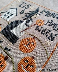 Thank you Rosalie Colby of Maine for stitching this model for me! Love it! #crossstitch #halloween
