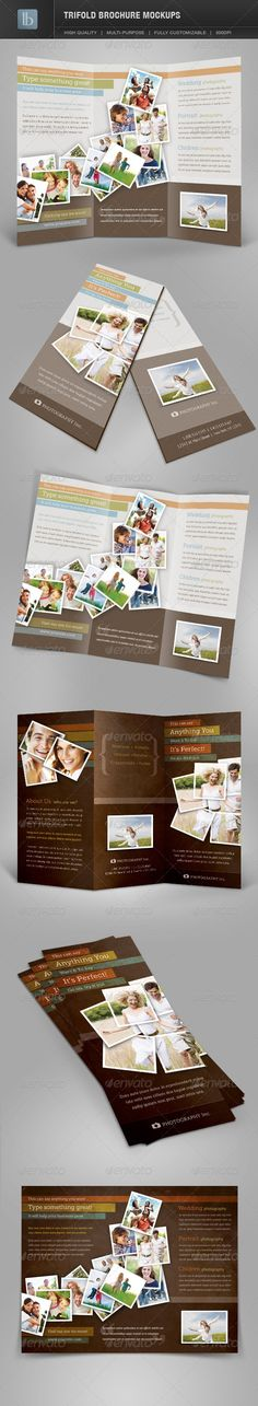 Trifold Brochure Mockups Volume 1 by lbeck Trifold Brochure Mockups Display your beautiful designs with these realistic mockups.This package contains 6 realistic mockups des Business Flyer Templates, Business Card Mock Up, Mockup Templates, Brochure Template, Brochure Design, Flyer Design, Brochure Inspiration, Creative Business, Product Mockup