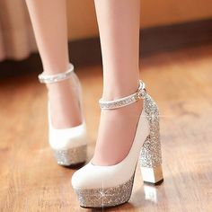 high heels boots pumps sexy gold cute shoes sparkly wedge. Yes. Please. #shoes #gold #sparkly
