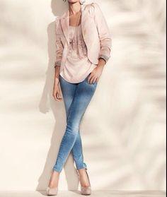 Jeans + pastels