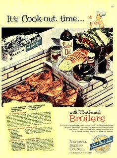 1956 National Broiler Council Grill Barbecue Chicken Ad | eBay