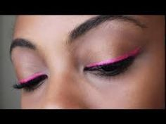 Pink eyeliner Pink Eyeliner, Pink Eyeshadow, Makeup Tips, Beauty Makeup, Hair Beauty, Bright Lips, Eyeliner Tutorial, Type 4, College Fashion