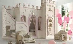 15 Creative and Cool Kids Bedroom Furniture Designs www.A Princess Castle Bed Princess Castle Bed, Princess Bedrooms, Princess Room, Princess Beds, Princess Kate, Princess Palace, Princess Style, Little Princess, Cool Kids Bedrooms