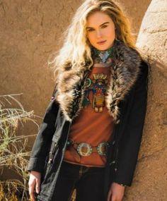 Brands :: Double D Ranch :: DOUBLE D RANCH FALL WAR BONNET FIELD JACKET - Native American Jewelry Ladies Western Wear Double D Ranch Ladies ...