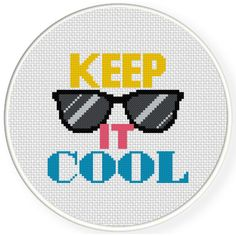Charts Club Members Only: Keep It Cool Cross Stitch Pattern