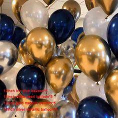 Buy birthday balloons man birthday boy child party decoration men balloons birthday 60 decoration kids happy birthday balloon at Wish - Shopping Made Fun Confetti Balloons Wedding, Birthday Balloons, Graduation Balloons, Balloon Wedding, Gold Confetti, Metallic Balloons, White Balloons, Latex Balloons, Blue Party Decorations
