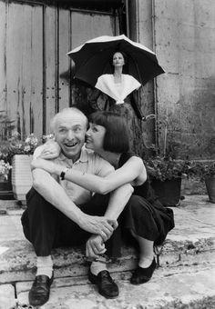 Foto-Post: Robert Doisneau and Sabine Azema 1987