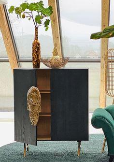 Nightstand, Mango, Furniture, Home Decor, Chest Of Drawers, Oak Tree, Timber Wood, Black, Dekoration