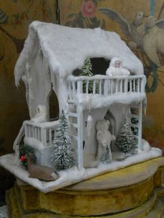 ~~~ Beautiful German Winter Wonderland Doll House ~~~ from whendreamscometrue on Ruby Lane