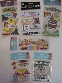 Scrapbooking Stickers Lot Jolee's Boutique & Sticko CALIFORNIA San Francisco…