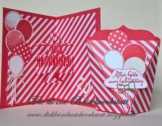 Stampin up Partyballons Melonensorbet Geburtstag Geburtstagskarte Karte Grusskarte Verpackung Selbstschließende Box