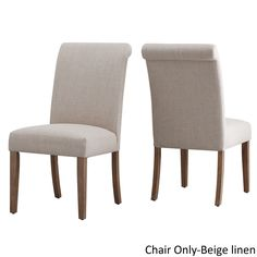 Potomac Slipcovered Rolled Back Parsons Chairs by Signal Hills