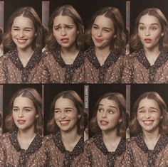 Queen of facial expressions Pandaren Monk, Emilia Clarke Daenerys Targaryen, Mother Of Dragons, English Actresses, Facial Expressions, Draw On Photos, Celebrity Hairstyles, Woman Crush, Pretty People