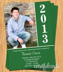 Graduation Invitation 2013 Green