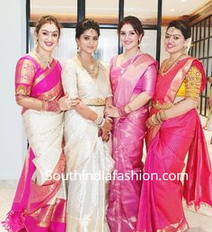 Every Shopper's Paradise: 7 best Sites To Buy Kanchipuram Sarees Online in India; where to buy silk sarees online, pattu sarees online Half Saree Designs, Silk Saree Blouse Designs, Saree Blouse Patterns, Bridal Blouse Designs, Silk Sarees, Organza Saree, Saris, Wedding Saree Collection, Bridal Collection