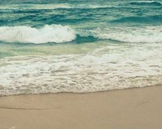 Turquoise Sea and Teal Ocean Waves | Beach Photography  by Beach Bum Chix