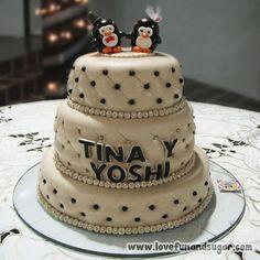 Torta de Boda Civil: TINA Y YOSHI. Love, Fun and Sugar. #torta #tortas #weddingcake #wedding #lovefunandsugar #yummy #ñomi #dessert  #dulces #postres #bake #baking #cook #cooking #cake #cakes #pastries #pasteleria #patisserie #cocina #sugar #sweet #delicious Link-> http://www.lovefunandsugar.com/2015/10/torta-de-boda-civil-tina-y-yoshi.html