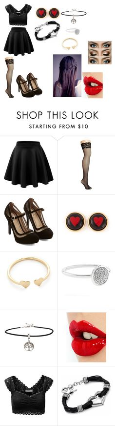 """You Swore to Me"" by katie-odoms ❤ liked on Polyvore featuring LE3NO, Betsey Johnson, Moschino, Ariel Gordon, Links of London, ASOS, Charlotte Tilbury and J.TOMSON"