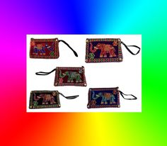 Indian Traditional Elephant Design handmade Mobile Purse wallet ( Pack of 5 PS ) #Handmade #purse
