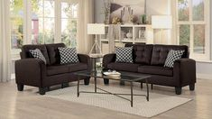 The Sinclair Chocolate Sofa & Loveseat from Home Elegance is currently available at Dallas Furniture Online's showroom for only $590--an $80 savings over the $670 retail price! Click the image above or call/click 972-698-0805 for details. #furniture #decorating #decor #sofas #couches #loveseats #LivingRoom #DFW #Dallas #FortWorth Living Room Sofa, Home Living Room, Living Room Furniture, Sofa And Loveseat Set, Online Furniture, Love Seat, Outdoor Furniture Sets, Upholstery, Chocolate