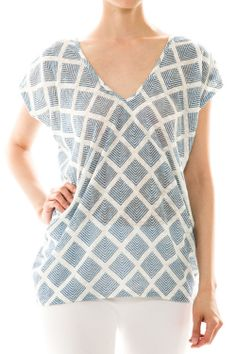 Diamond Pattern Knit Top Shop now: http://www.jesschic.com/collections/tops/products/diamond-pattern-knit-top