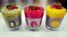 BUDINCA DE CHIA CU FRUCTE - Flaveur Fast Healthy Meals, Healthy Meal Prep, Healthy Eating, Healthy Recipes, Healthy Food, Easy Cooking, Cooking Recipes, Kiwi, Quinoa