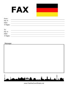 This Printable Fax Cover Sheet In Which A Romantic Suitor Has