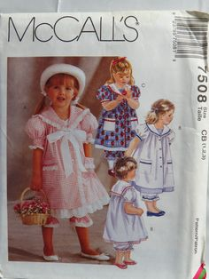 McCall's 7508 Toddlers' Dress and Pantaloons