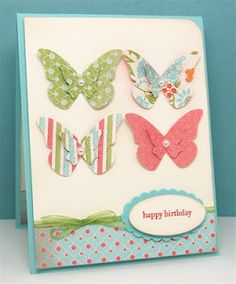 Butterflies just mean happiness thanks to Maureen Merritt and her beautiful card