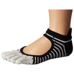toesox Bellarina Full Toe w/ Grip (Shimmy) Women's Crew Cut Socks ($15) ❤ liked on Polyvore featuring intimates, hosiery, socks, yoga socks, crew length socks, crew cut socks, low socks and crew socks