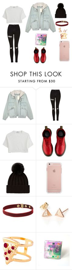 """""""Sem título #85"""" by mariabr13 ❤ liked on Polyvore featuring Topshop, Hope, Dr. Martens and Glenda López"""