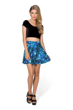 Sapphire Skater Skirt by Black Milk Clothing $50AUD