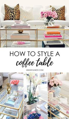 Coffee table styling is a hot topic and you can find many tips online, but here I am sharing 5 simple tips to up your coffee table game today.