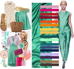 Green combinations for styling your wardrobe Color Pairing, Color Combinations, Colour Schemes, Fashion Images, Look Fashion, Maroon Color Palette, Deep Winter Colors, Vintage Street Fashion, Color Me Beautiful