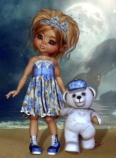 ♥ Little Design ♥ Holly Hobbie, Cute Little Girls, Cute Kids, Pixie Tattoo, Bratz, Modelos 3d, Beautiful Fairies, Anime Dolls, Little Designs