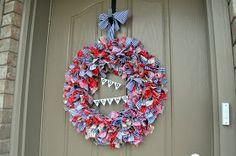 4th of July rag wreath