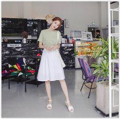 2e85f5d171 mimi didi - Crew-Neck T-Shirt Korean Fashion Ulzzang
