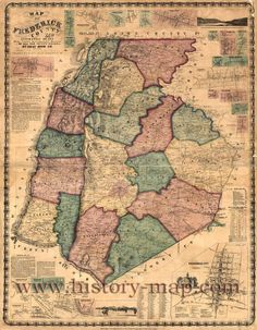 Map of Frederick County, Maryland