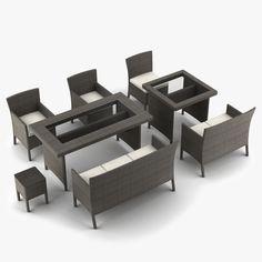 garden furniture 3d model 3d model - Garden Furniture 3d Model