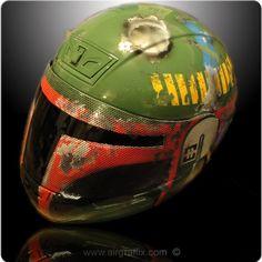 Custom Painted Airbrushed Boba Fett Helmet 3 Helmet options Z1R, Icon, Shoei.