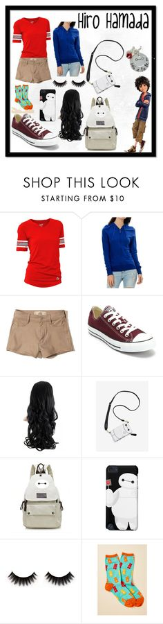 """""""Hiro Hamada"""" by dazacrystal23 on Polyvore featuring Soffe, Hollister Co. and Converse"""