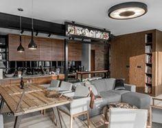 Aranżacje wnętrz - Kuchnia: Apartament w Gdańsku - Średnia duża otwarta kuchnia w aneksie, styl nowoczesny - SIKORA WNĘTRZA. Przeglądaj, dodawaj i zapisuj najlepsze zdjęcia, pomysły i inspiracje designerskie. W bazie mamy już prawie milion fotografii!