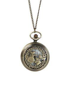 Disney Alice In Wonderland Pocket Watch Necklace | Hot Topic