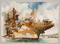 The Tyco Tiger (Watercolor on Paper) 1972 by Chet Jezierski by peacay, via Flickr